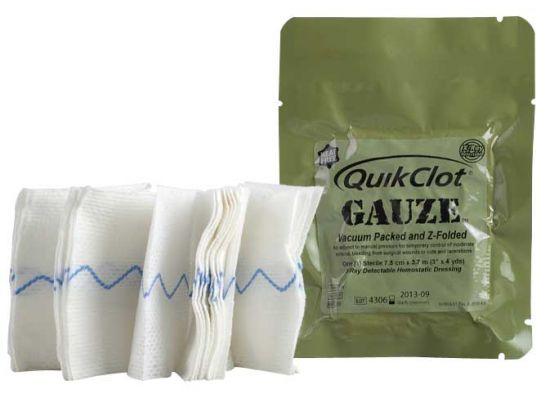 Pansement hémostatique d'urgence QuikClot Combat Gauze