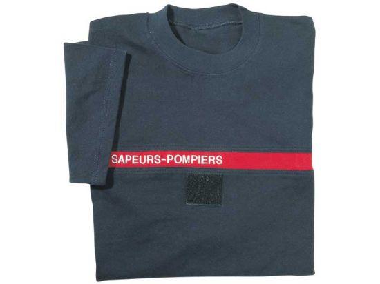 Tee-shirt Pompier bleu marine