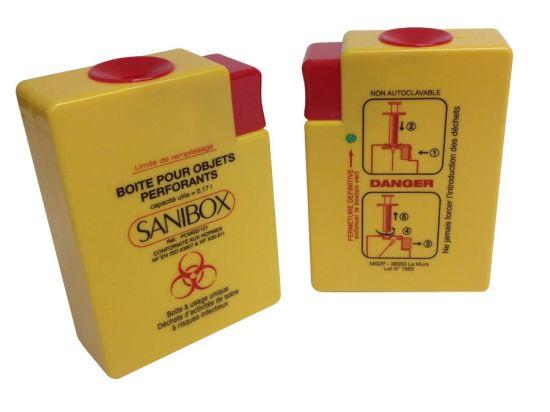 Collecteur d'aiguilles SANIBOX mini 170 ml