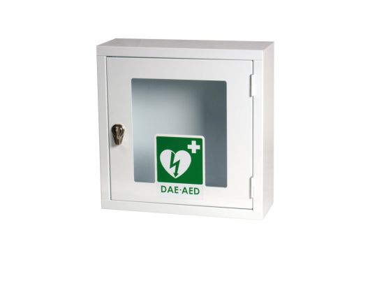 Armoire défibrillateur d'intérieur en métal avec porte vitrée
