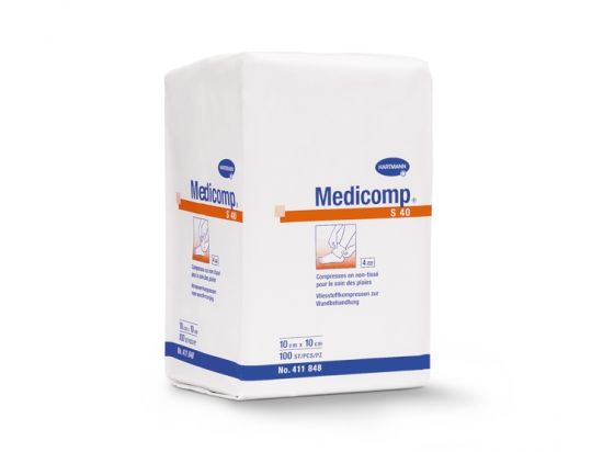 Compresses en non tissé Medicomp non stérile x100 - 7.5x7.5 cm
