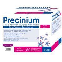 Gants médicaux latex poudrés stériles Précinium - 50 paires