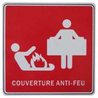 Panneau de signalisation couverture anti-feu