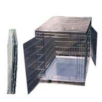 Cage de transport pour chien en acier