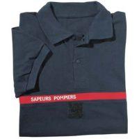 Polo Pompier bleu marine