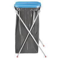 Support pliable avec couvercle pour sac poubelle