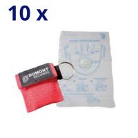 Masque de bouche à bouche avec porte-clés souple - Lot de 10
