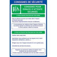 Panneau EAS avec consignes de sécurité
