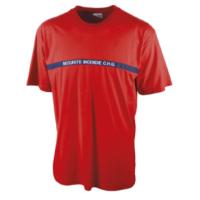T shirt Sécurité incendie rouge