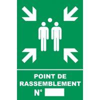 Panneau Point de rassemblement en PVC