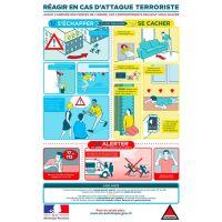 Panneau PVC Réagir en cas d'attaque terroriste