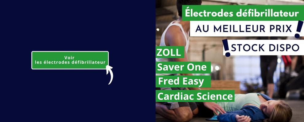 Electrodes défibrillateur