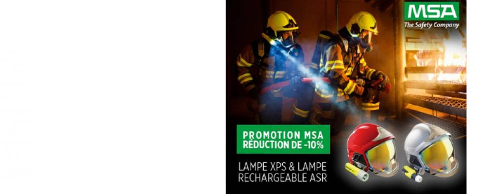 Lampe MSA : offre de Noël exceptionnelle avec Histoire de pompiers