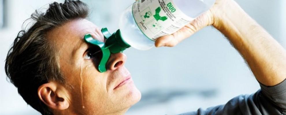 Lavage oculaire en milieu professionnel : comment faire ?