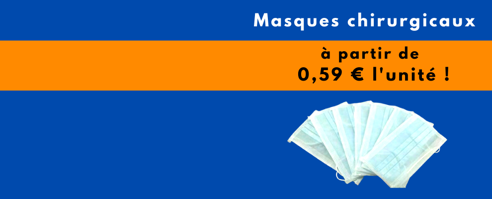 Masque 3 plis en stock