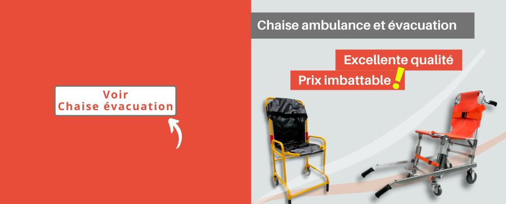 Chaise portoir et évacuation